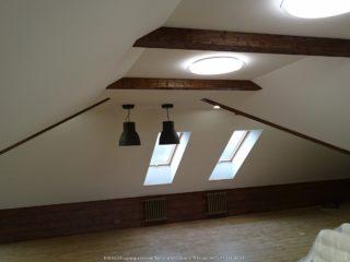 Фальш балки на ломаном потолке