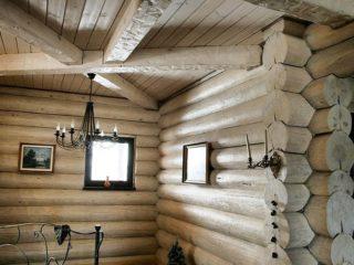 Фальш балки в деревянном доме