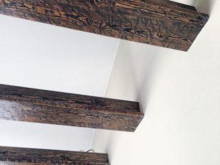 балки под старину с подсветкой - сложный деревянный профиль