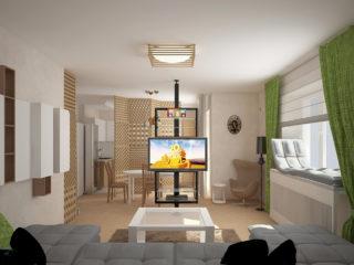 Деревянные перегородке в квартире