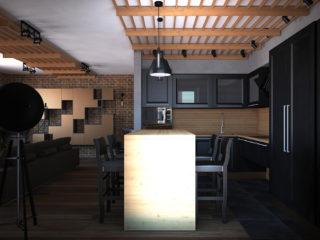 Потолочные рейки в интерьере современной квартиры