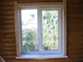 профиль для проёмов - как обыграть окна деревом 064