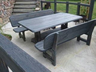 столы и скамьи из состаренной древесины ручной работы