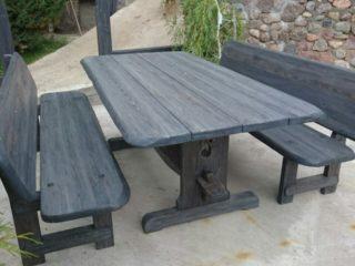 столы из состаренной древесины ручной работы