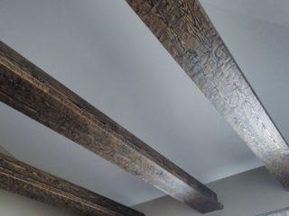 светильники в балках - сложный деревянный профиль